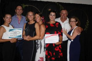 Congratulations Rainbow Beach Horserides Tourism winner and Rainbow Getaway Holiday Apartments, Tourism finalist at the Gympie Chamber Business Awards: Iselan Von Zernichow, Heatley Gilmore, Helen Warburton, Jacqueline Soden, Karla Ralph, Andrew McCarthy and Michelle Gilmore