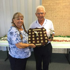 Larraine Goodwin was presented the Neil Finney Trophy for most outstanding member by President Jim George