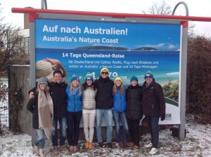 The hero image of Double Island Point is selling a sunny message in the thick of snow to German commuters