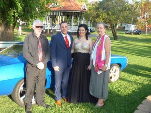 John Brosnan, Bryce Googe, Samantha Montgomery and Sandy Brosnan