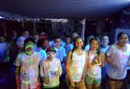 "The neon pool party for Tin Can Bay Year 6 was called an ""awesome"" celebration"