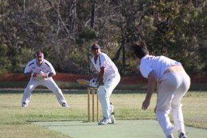 Murray Everett bats against the Gympie Colts