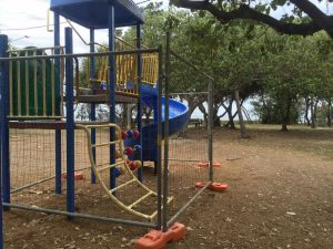 """Lawrie Hanson Park: not just locals but visitors are """"appalled"""" at the state of our playgrounds and public areas"""