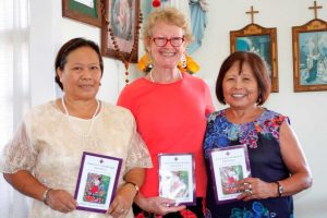 St John Vianney congregation members Adelaida Allars, Maggie Travers and Teresita Moffatt invite you to the World Day of Prayer Service and morning tea, March 3, at Cathy House, Tin Can Bay