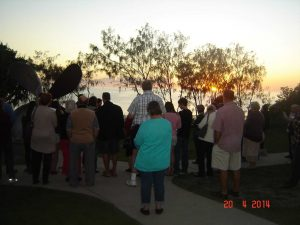 At last year's service the locals and visitors celebrated Easter watching the sun rise over the ocean