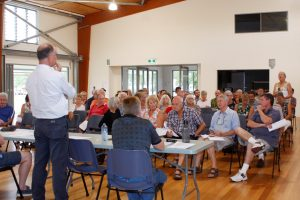 Locals voiced their concerns at a well attended public meeting hosted by the Rainbow Beach Chamber of Commerce last month