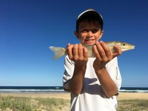 Come along to a Junior Fishing Day April 8, and you can catch a whiting like 9-year-old Jackson May