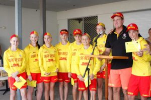 Brad Hethorn farewell the U14's and congratulate those who are continuing on the beach as lifesavers