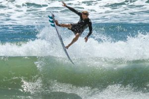 "alented Rainbow Beach surfer Rhys Smith gets some ""air"" Image SALTY / EPICS.COM.AU"