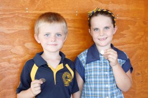 Rainbow Beach State School - Xavier  and Delilah say start collecting your coins!