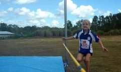 Jahli Parton makes a high jump attempt