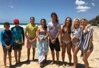 Charlie Kingsley, Zac, Zack McCarthy, Hannah Wilson, Nicholas White, Ella Steele, Chloe-lee Kelly, Cyndari Parton were part of the squad representing Gympie Region at the Wide Bay School Surfing Competition