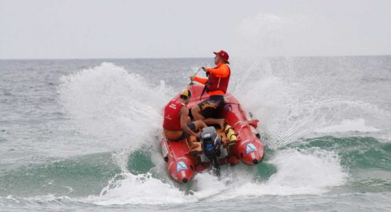 In a coup for Rainbow Beach, our SLSC members like Stuart and Alex Wilson (pictured at our IRB course) will enjoy watching the IRB racing on May 27-28