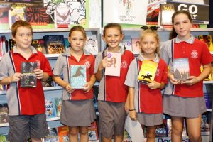 Year 4 students Xander Murphy, Sarah Gray, Harmonie Milesi, Lauren Lewis and Grace Reeves were checking out the P&C's Book Show