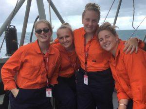 16-year-old Jasmin Betteridge from Rainbow Beach experienced life in the Navy on a holiday work experience program