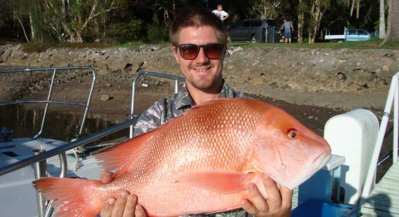 Taylor was happy - this red emperor is just one of his quality fish