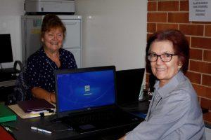 Eileen Holyoak and Lynette Cunningham