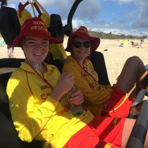 Elizabeth White and Kate Gilmore took a break from patrolling to attend a SLSC youth program