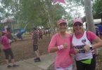 First female walkers Katie Rorrison and Blue Care Nurse Monique Gorham