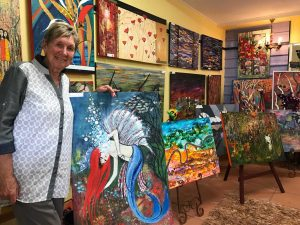 Local artist, Jill McDonald encourages everyone to enter the Art Show and Photography Competition held July 28-30 at the Country Club