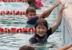 Have fun at our heated pool on June 3! Image taken at a RBSS Carnival