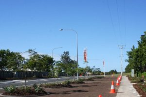The corner of Nautilus Drive and Queen Elizabeth Drive now has new pedestrian links, seating and landscaping