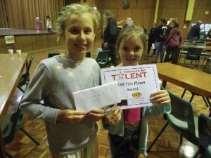Cooloola's Got Talent Hannah Bradley and Xanthe-leigh Sheridon with their prize