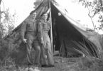 Our Camp at Snapper Creek - Ian Ross is next to the pole - it was 57 years ago