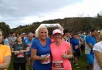 Local physiotherapist, Sue Bennett and team member, Helen Window, ready themselves for a half-marathon!