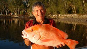 Stephen Atkins was happy with this red emperor