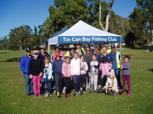 Tin Can Bay Fishing Club members hosted a training day for 12 Girl Guides and their Group Leaders from Tin Can Bay, learning general safety, knot tying, rigging a rod and casting with excellent results achieved - some were casting 25 metres!