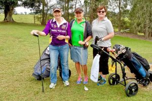 'Chicks with sticks' Helene Hoksbergen, Tracey Brown and Sue Hawthorn