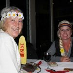 The previous and current administrators of the RBSLSC, Helen Brown and Nicole Lunney in their hippy garb