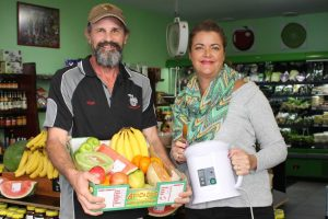 Weddings, waxing and watermelons! Andrew Kingsley at Rainbow Beach Fruit, and Celebrant and Beauty Therapist, Zaneta Fitzgerald say you can book their services and products online