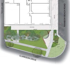 The landscaping along Clarkson Drive will be a big improvement
