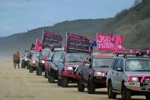 4x4 Pink Run convoy