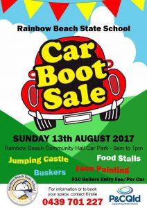 Rainbow Beach State School P&C is hosting a Car Boot Sale