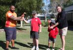 Maurice Kissier and Phys Kennedy show Max Vosmaer and Matai Bentley more traditional games