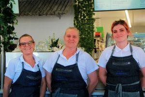 Leanne Modin, Kerri Jordison and Jordi Jones are super excited to be part of the Sea Salt Café @ Rainbow, the newest addition to the Rainbow Beach café scene