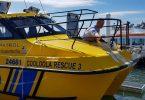 Mayor Mick Curran naming Cooloola Rescue III