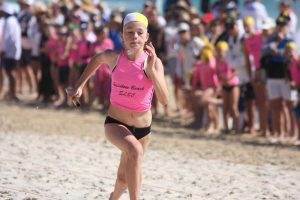 Matilda Duggan competed well for the RBSLSC at last year's Nipper Carnival