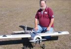 Local club member Barry McDonald with his Eindecker at last year's Muster