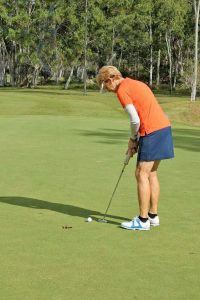 Laurel Edwards who distinguished herself at the QLD Women's Senior Amateur Championships