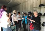 After their horse ride, one group from the Australian Society of Travel Writers go to work!