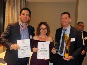 Across three categories of Best Newspaper in Country Queensland 2017, Michelle and Heatley Gilmore won two second places for the Hinterland Times, and a second and third place for Rainbow Beach Cooloola Coast Community News - and are pictured with winning newspaper Noosa News owner Paul Thomas