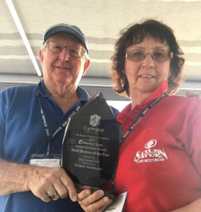Peter and Margaret Grant were delighted to win The Gympie Chamber of Commerce Small Business of the Year!