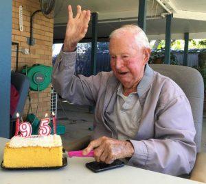Jim Grant, Peter's Dad celebrating 95 years!