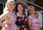 Pin Up Pageant entrants: Miss Kiss Me Kate, Miss Ardene Storm, Miss Gatito Greer