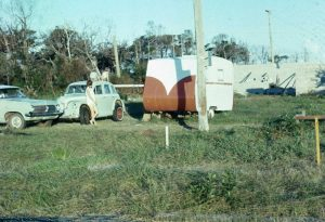 1972: Ian's block at Rainbow prior to building - he had a two year building covenant on the original Land Sale