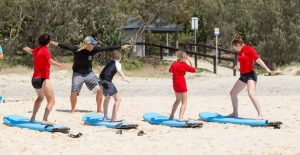 JD Stewart and Sarah Booth are proud to introduce their new business Rainbow Beach Learn to Surf